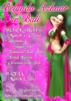 Workshops and hafla in Bali, Indonesia with Belynda Azhaar - 2012